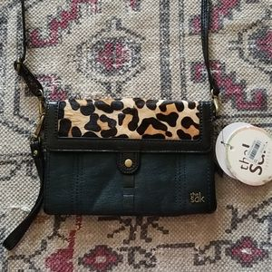 The Sak Cow hair leopard crossbody